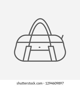 54775cc369 Duffel bag icon line symbol. Isolated vector illustration of icon sign  concept for your web