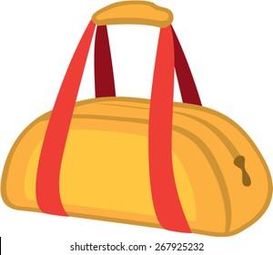 Duffel Bag Vector simple