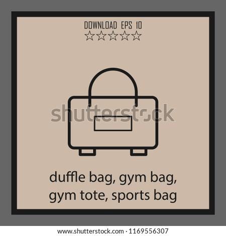 Duffle Bag Gum Bag Gym Tote Stock Vector (Royalty Free) 1169556307 ... ec99ad8698b37