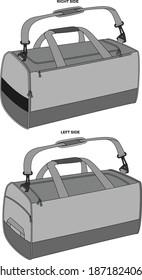 Duffle Bag Mock ups Sublimated vectors