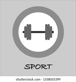 dumbbell bodybuilding black simple Icon Vector. EPS 10