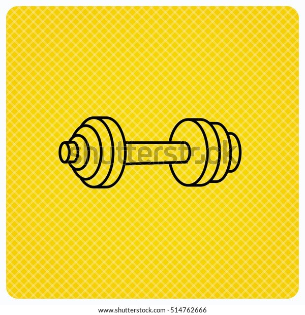 Dumbbell Icon Fitness Sport Gym Sign Stock Vector (Royalty