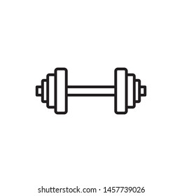 Dumbbell icon vector. Fitness icon. Modern design on white background.