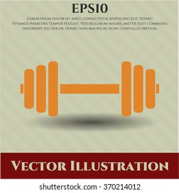 Dumbbell icon vector illustration