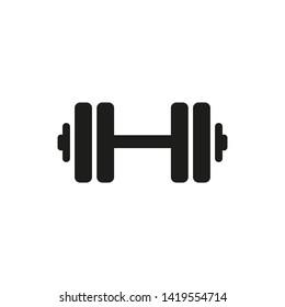 Dumbbell icon. Vector illustration. Flat design.