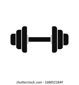 Dumbbell Icon . vector illustration on white background
