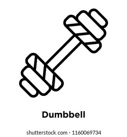 Dumbbell icon vector isolated on white background, Dumbbell transparent sign , line and outline elements in linear style