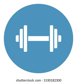 Dumbbell Isolated Vector Icon that can be easily modified or edit
