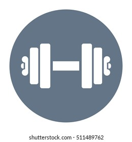 Dumbbell vector icon illustration isolated on white background