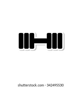 Dumbbell - vector icon with shadow