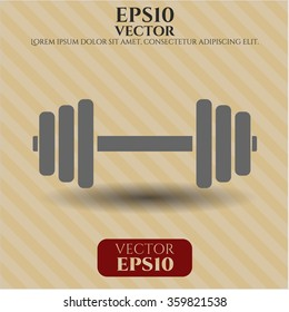 Dumbbell vector icon or symbol