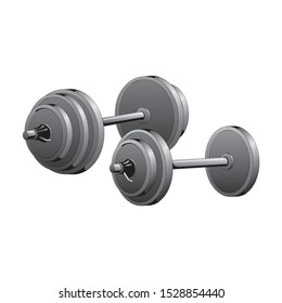 Dumbbell vector illustration. Bumbbell vector eps icon.