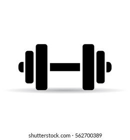 Dumbbell vector pictogram. Bumbbell vector eps icon.