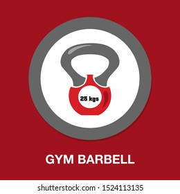 dumbell icon - vector gym barbell, heavy weight lifting illustration, bodybuilding, sports icon