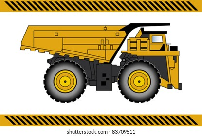 Dump truck construction machinery equipment isolated