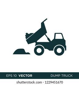 dump truck icon vector construction logo template