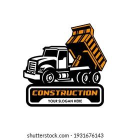 dump truck logo vector icon symbol