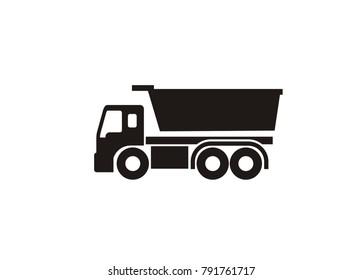 dump truck simple icon