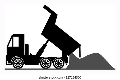 Dump truck, vector illustration