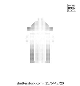 Dumpster Dot Pattern Icon. Recycle Wastebasket Dotted Icon Isolated on White. Vector Background, Design Template. Can Be Used for Advertising, Web and Mobile UI.
