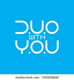 DUO with YOU letter logo design vector