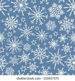 Duotone seamless winter texture. Winter background. Christmas template.