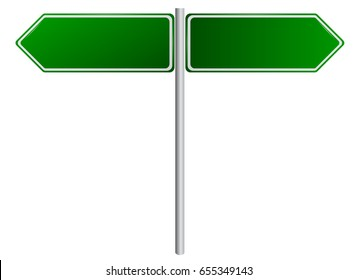 Duplex Blank Green Road Sign