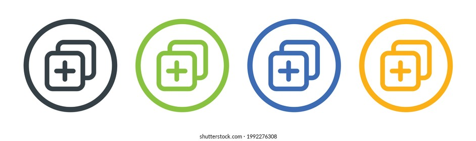 Duplicate button icon symbol vector illustration.
