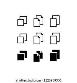 Duplicate Icon Design Vector Copy File