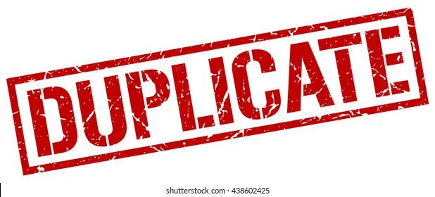 duplicate stamp.stamp.sign.duplicate.