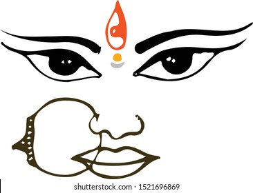 Durga Drawing Images Stock Photos Vectors Shutterstock