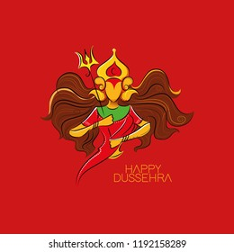 Durga face for the celebration of Hindu Festival Durga Pooja, Happy Dusshera.