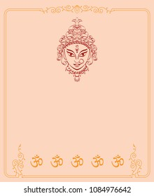 Durga Goddess Of Power, Divine Mother Of The Universe Design, Vector Art Illustration