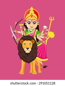 Durga Mata Vector