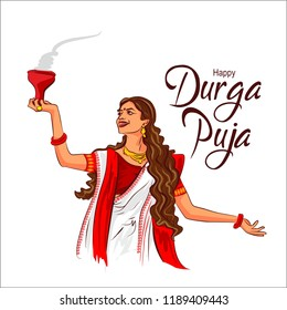 Durga puja celebration in west Bengal india