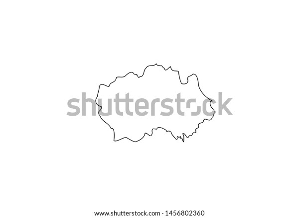 Map Of England Durham.Durham County Outline Map England Region Stock Vector Royalty Free