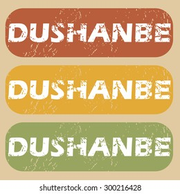 Dushanbe on colored background