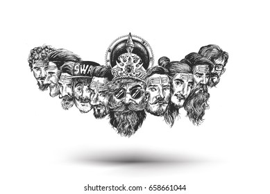 Dussehra celebration - Ravana with ten heads for Dussehra