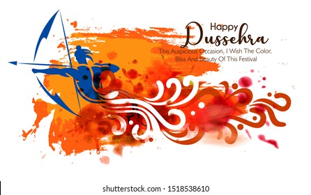 Dussehra festival Shopping sale banner or poster design Lord Rama killing Ravan in Navratri festival of India Happy Dussehra celebration. hindi text meaning 'jai shri ram' and 'Dussehra'