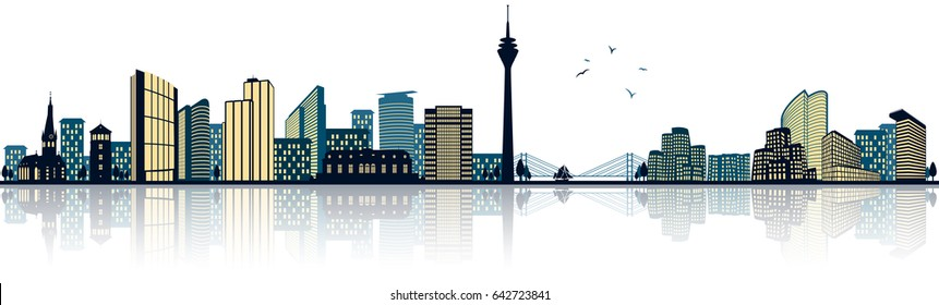 dusseldorf skyline (germany)