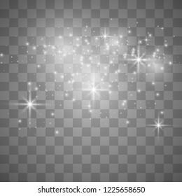 dust on a transparent background, with beautiful small particles. Star dust, fascinates the eye.