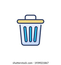 Dustbin icon in vector. Logotype