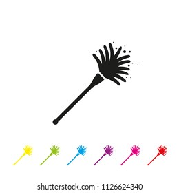 Duster vector icon. Housework and cleaning symbol.