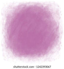 Dusty rose watercolor circle textured background. Created with real brush strokes. Vector.