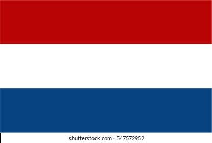 Dutch flag vector