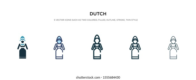 dutch icon in different style vector illustration. two colored and black dutch vector icons designed in filled, outline, line and stroke style can be used for web, mobile, ui