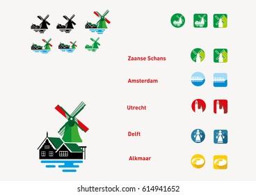 dutch traditional windmill