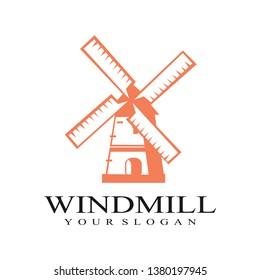 dutch windmill icon logo design