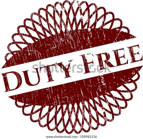 Duty Free grunge stamp