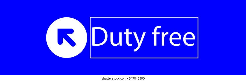 Duty free icon, vector illustration